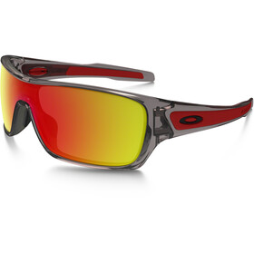 Oakley Turbine Rotor Gafas ciclismo, grey ink/ruby iridium